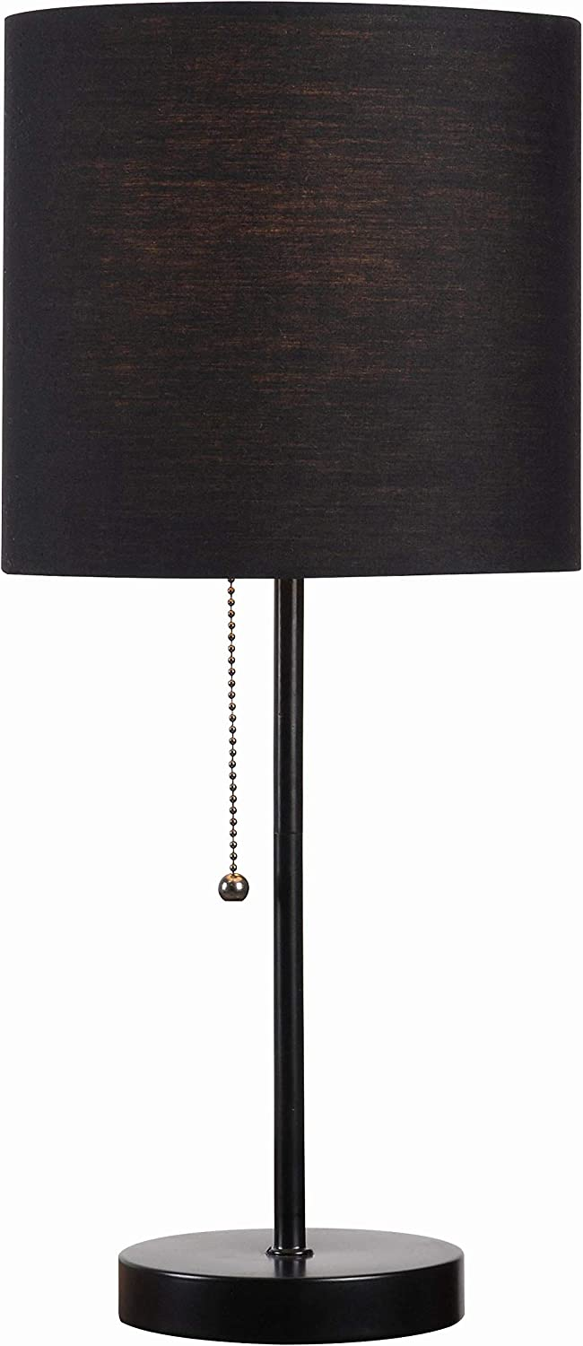 Kenroy Home 32714BL-BLK Table Tom Black Accent Lamp