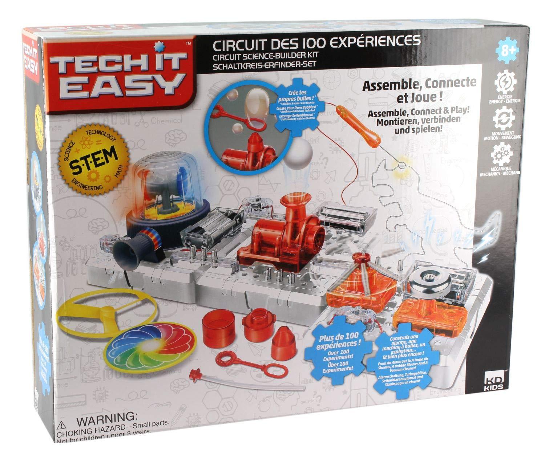 Kd toys – Circuito dei 100 esperimenti STEM, s18490, Multicolores