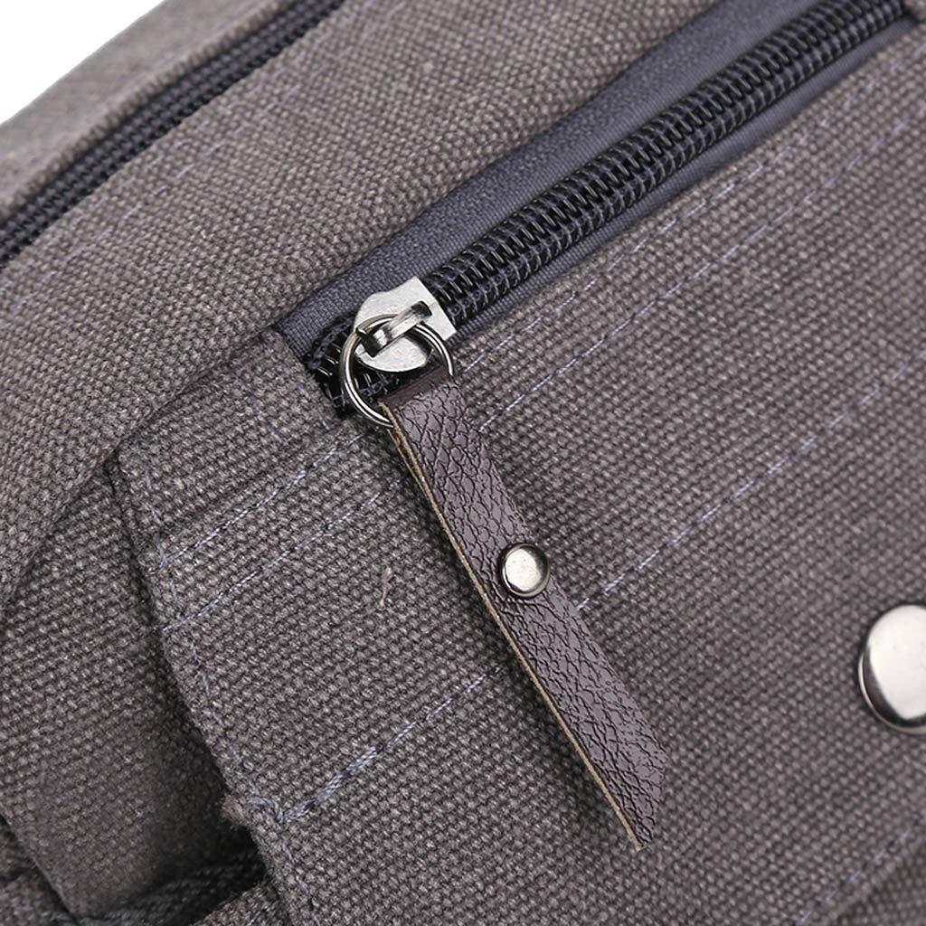 Small Canvas Crossbody Shoulder Bag Messenger Bag Work Bag Men Outdoor Sports Multifunction Bag Memela Bag