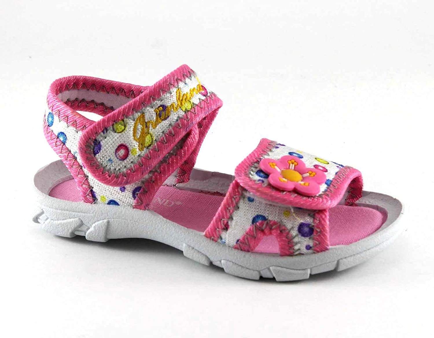 Grunland GRÜNLAND Flin PP0131 Multi Pink White Baby Sandals Tear Resistant  Fabric 21  Amazon.co.uk  Shoes   Bags
