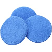 Semoic 3 x Microfibre Foam Sponge Polish Wax Applicator Pads Car Home Cleaning