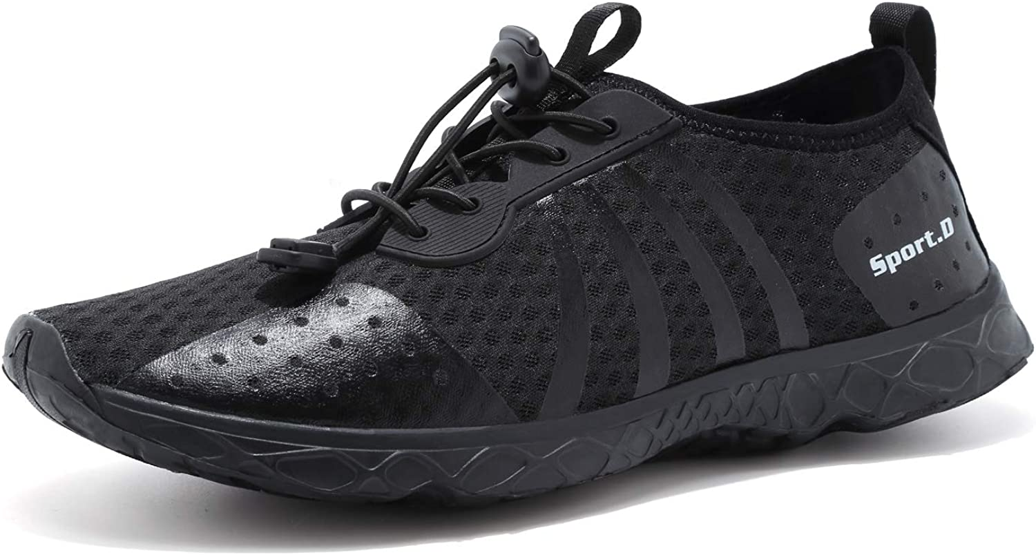 Mens Water Shoes Mesh Speed Laces Beach