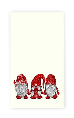 Red - Christmas Gnomes in Snow Holiday Decor Dish Towel Set Hand Towels Mainstream Christmas Holiday Kitchen Towels Set of 2