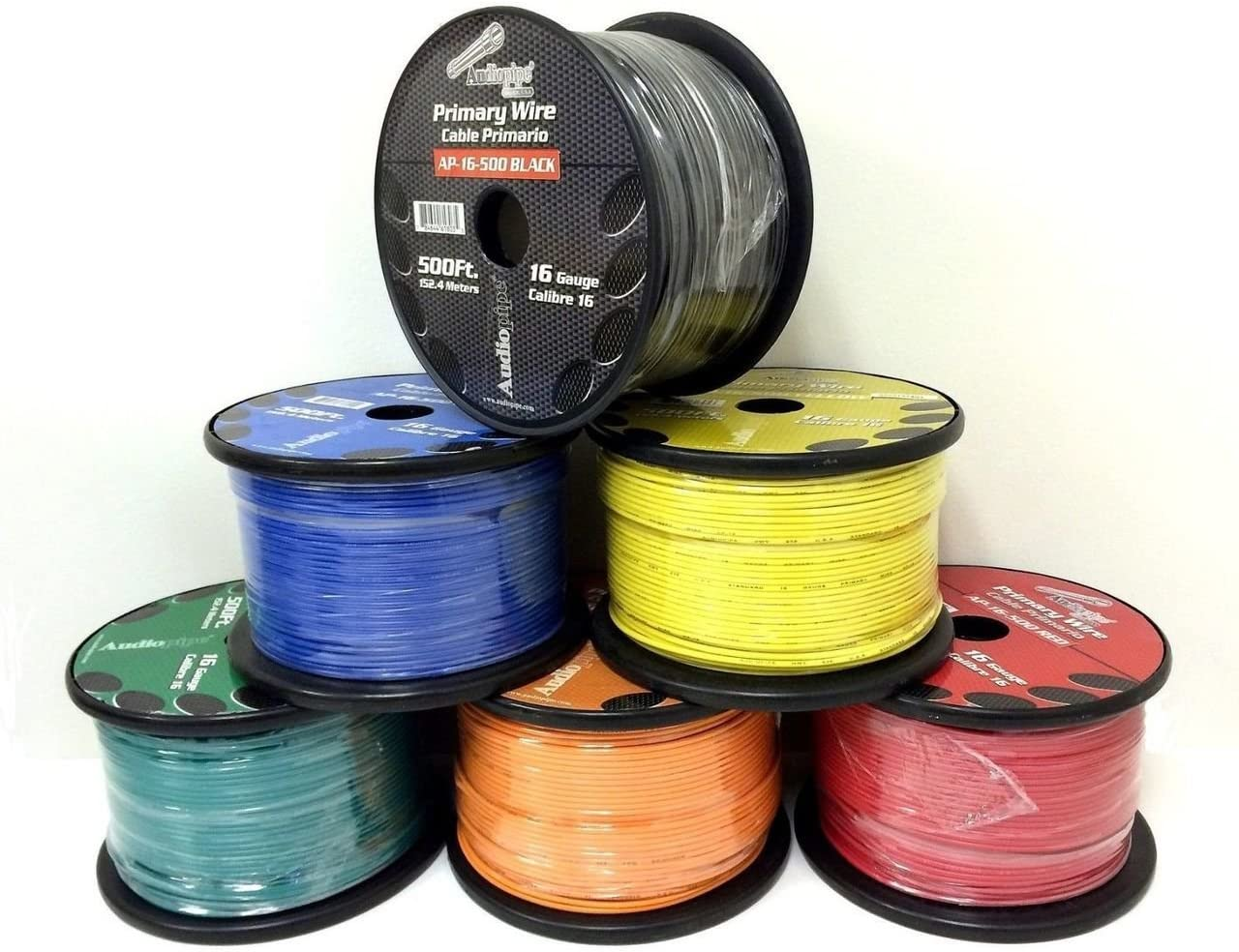 5 Rolls of 16 Gauge - 500' each Audiopipe Car Audio Home Primary Remote Wire 71GhmFFeBmLSL1280_
