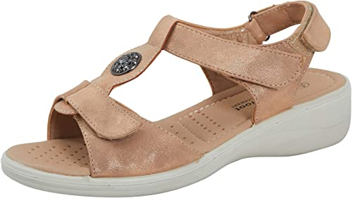 Womens Wide Fit Comfort Wedge Sandals