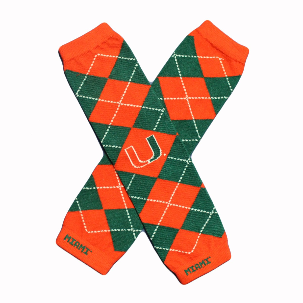 Licensed Miami Hurricanes Baby /& Kids Leg /& Arm Warmers