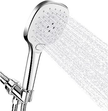 3 In 1 High Pressure Shower Head 5-Setting Chrome Handheld Shower Head Hose Set