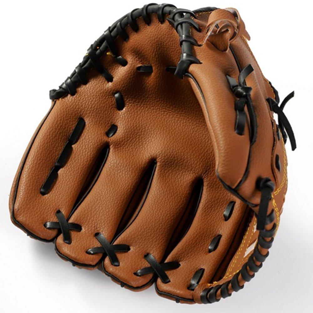 ZZM Guante de Béisbol Softball Deportes al Aire Libre Guantes de Batting Guante de Atrapasueños Cuero PU Mano Izquierda 10.5 11.5 12.5 para Adultos Jóvenes Adolescentes Niños