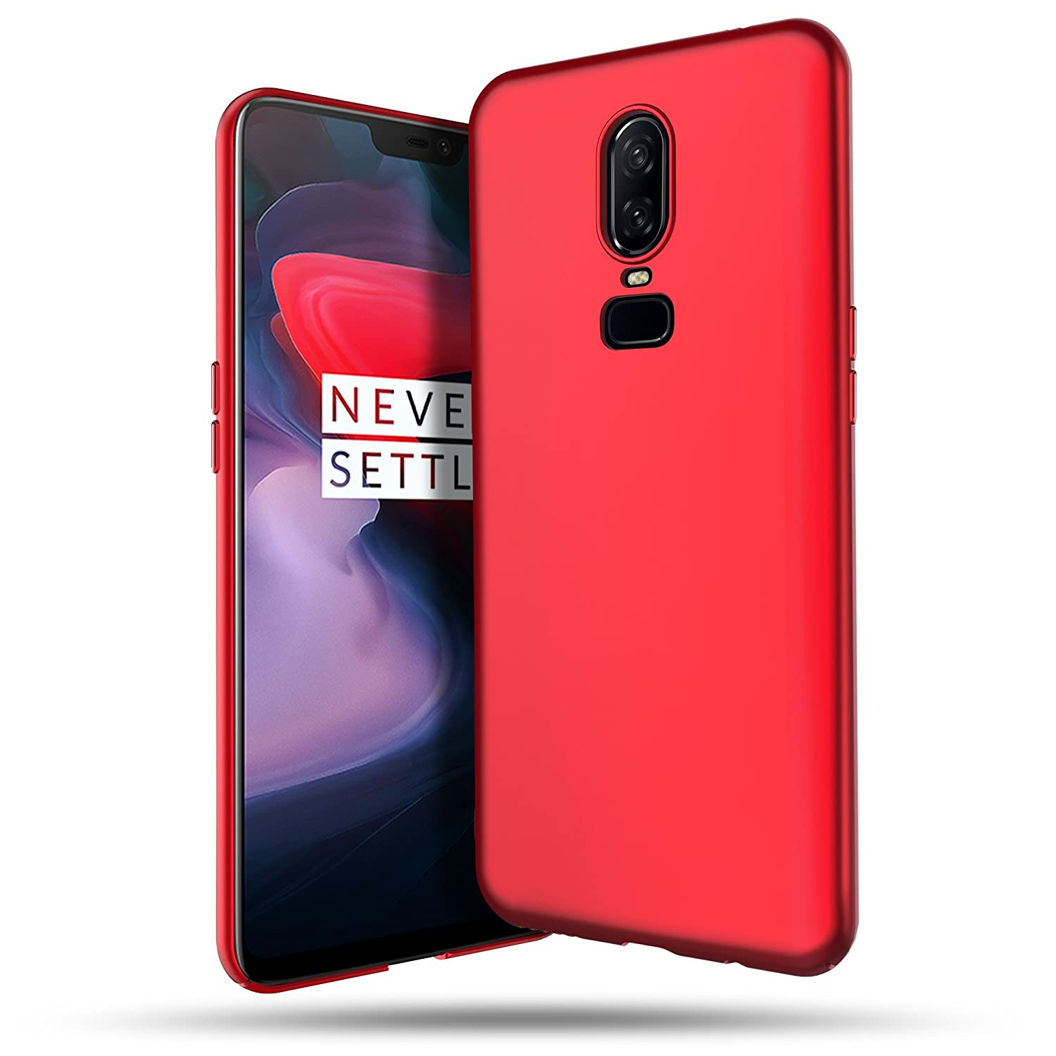 info for 328e2 ac19f OnePlus 6 Case, B BELK Ultra Slim Thin Snug-Fit Scratch Resistant Premium  PC Hard Protective Cover with Matte Finish Coating for OnePlus 6, Red