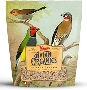 Volkman Avian Organics USDA Certified Organic and Non GMO Bird Food Seeds African Grey Macaw Cockatoo Cockatiel Lovebird Amazons Parakeets Finch