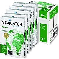 Alphaink 0198UN(5 CONF.) 5 risme di carta A4 Navigator Universal A4 80gr da 500 fogli ciascuna