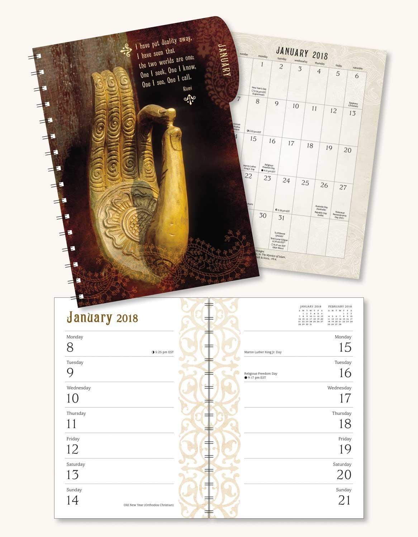 Meditation 2018 Engagement Datebook Calendar: Amber Lotus Publishing:  0762109024539: Amazon.com: Books