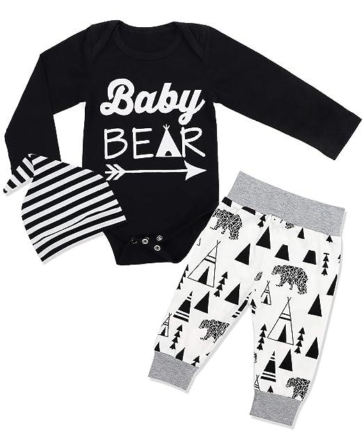 Amazon.com: Conjunto de ropa de bebé para niños y bebés, de ...