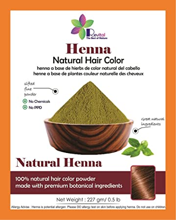 Amazon Com Revital 100 Pure Natural Henna Powder For Hair Dye