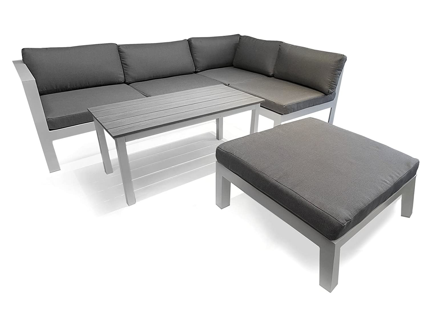 osoltus gartenlounge aluminium lounge copenhagen modern weiss kaufen. Black Bedroom Furniture Sets. Home Design Ideas