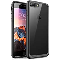 Supcase - Funda para iPhone 7/ 8 Plus Unicorn Beetle Style, Escarabajo Hibrido, Transparente, Negro