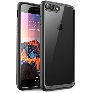SupCase Funda iPhone 7 Plus Transparente [Unicorn Beetle Style] para Apple iPhone 7 Plus / Apple iPhone 8 Plus Negro