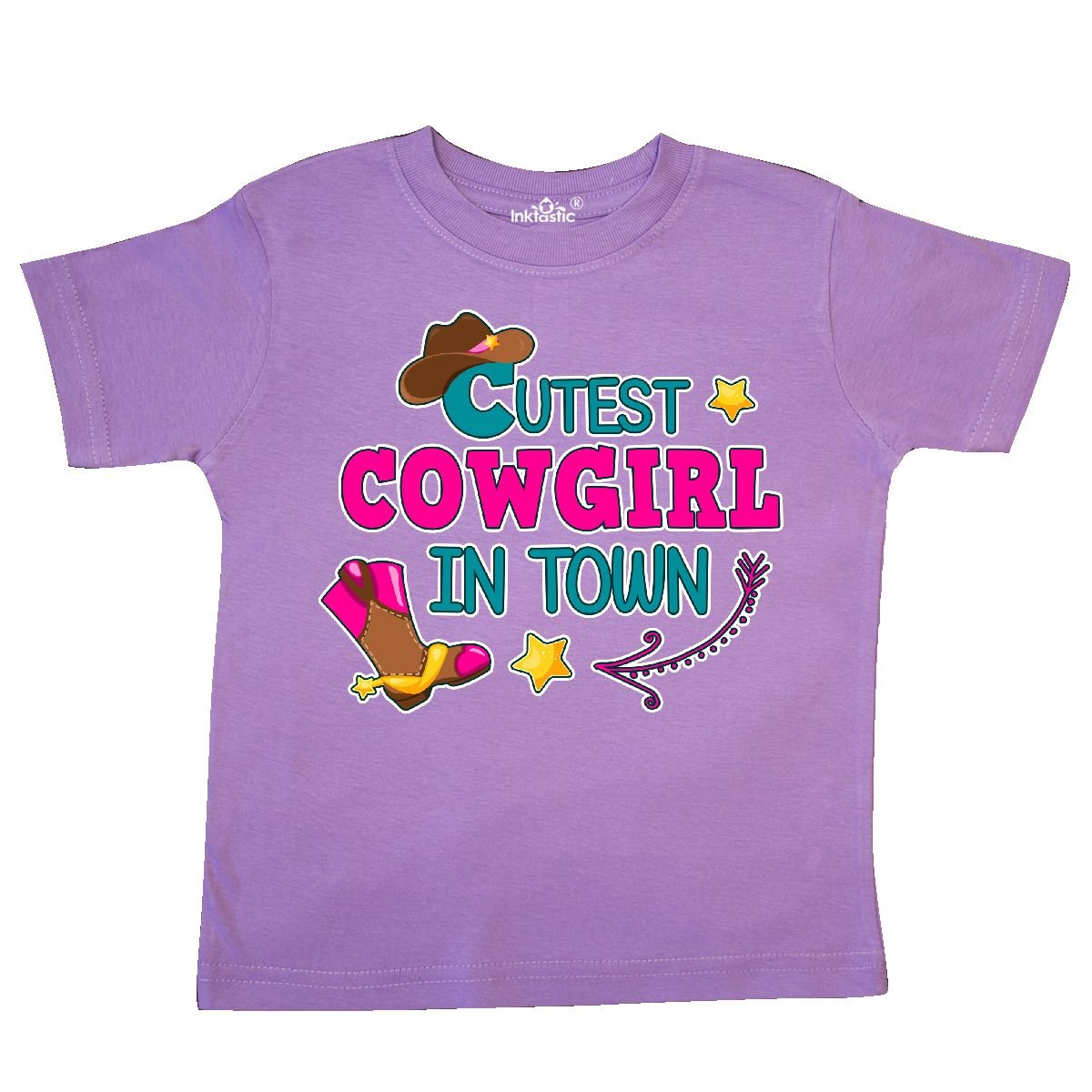 inktastic Cutest Cowgirl in Town with Cowgirl Hat and Boots Toddler T-Shirt