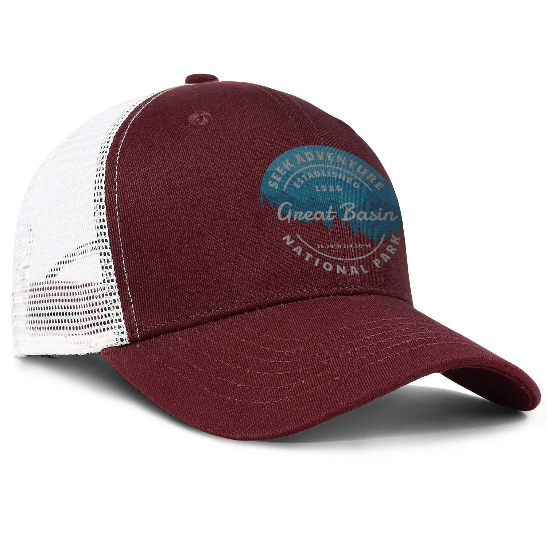 Men Womens Great-Basin-National-Park-Seek-Adventure Cap Retro Baseball Caps Hat