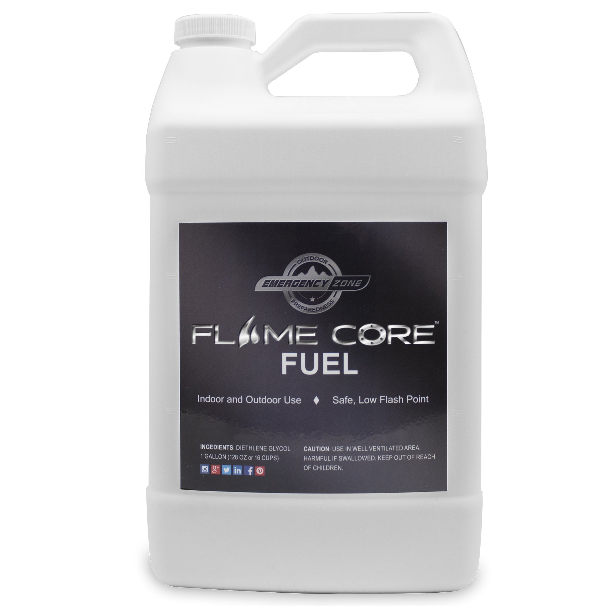 Emergency Zone FlameCore Reusable Fuel Cell Gallon Fuel Refill, Choose 1 or 2 Pack (FlameCore Fuel Gallon Refill, 1 Pack) by Emergency Zone