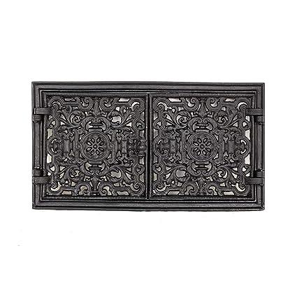 Antikas - Puerta rústica para horno, puerta de ventilación de dos hojas, puerta de