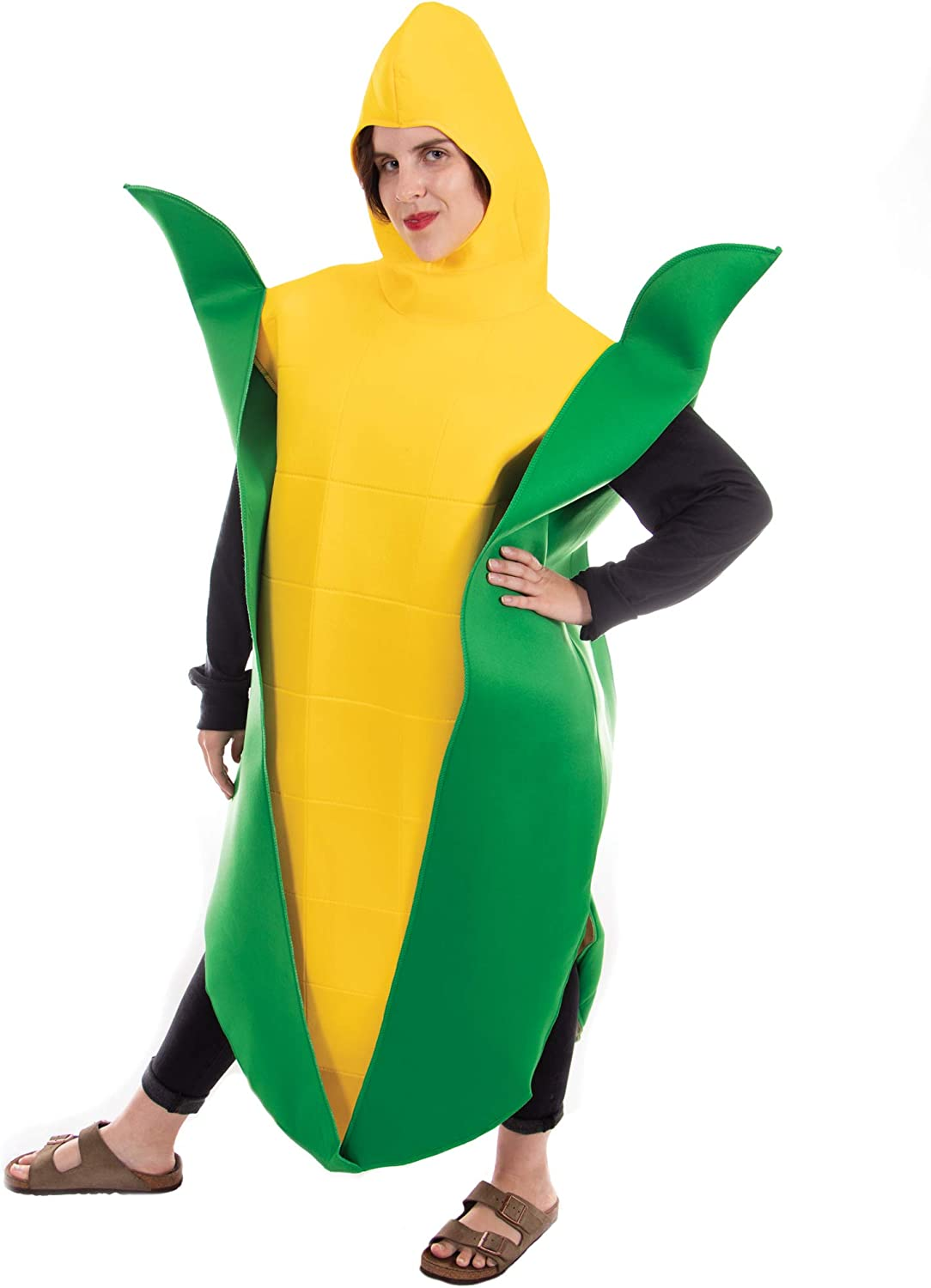Golden Corn Cobb Halloween Adult Costume - One-Size Unisex Food Mascot Outfit