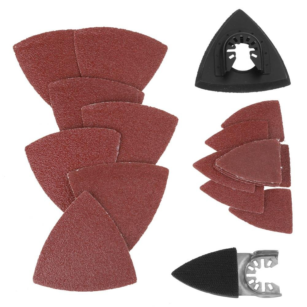 82pcs Triangular Hook & Loop Sandpaper Sanding Sheets Oscillating Multitool Sand Pad for Bosch Stanley Multimaster Makita Dremel