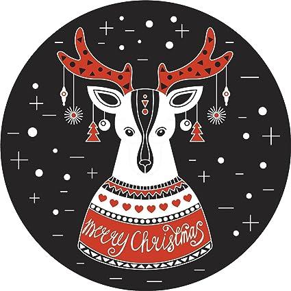 Ugly Christmas Sweater Cartoon.Amazon Com Festive Reindeer In Ugly Christmas Sweater