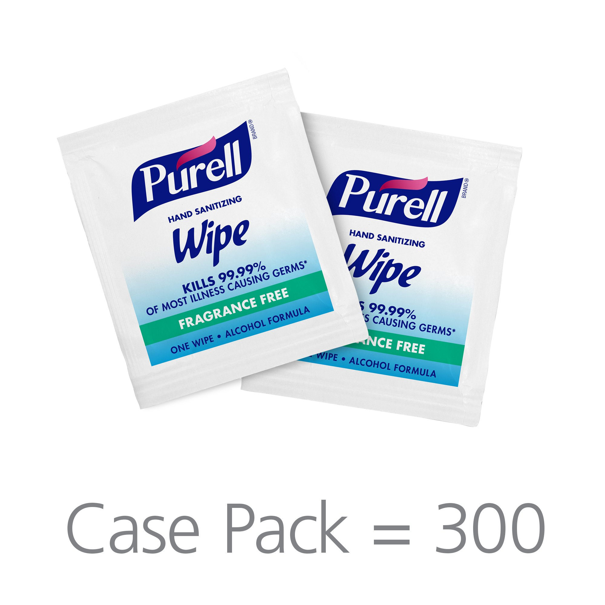 PURELL Hand Sanitizing Alcohol Wipes - Portable Individually Wrapped Wipes (Pack fo 300) - 9020-06-EC by Purell (Image #2)