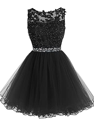 db69a1e12c32 Belle House Black Homecoming Dresses 2018 Short for Juniors Beaded Prom  Dress A Line Party Ball