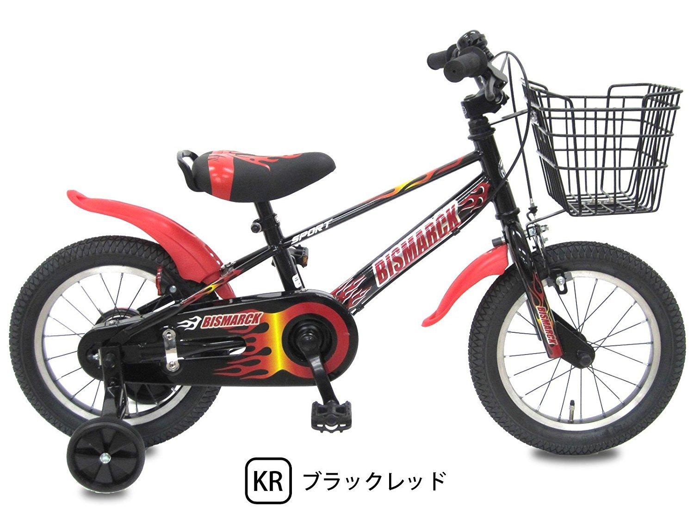 【組立済み】 ビスマーク 補助輪付き 子供用自転車 幼児自転車 B01M74CM3R 14インチ|ブラックレッド ブラックレッド 14インチ