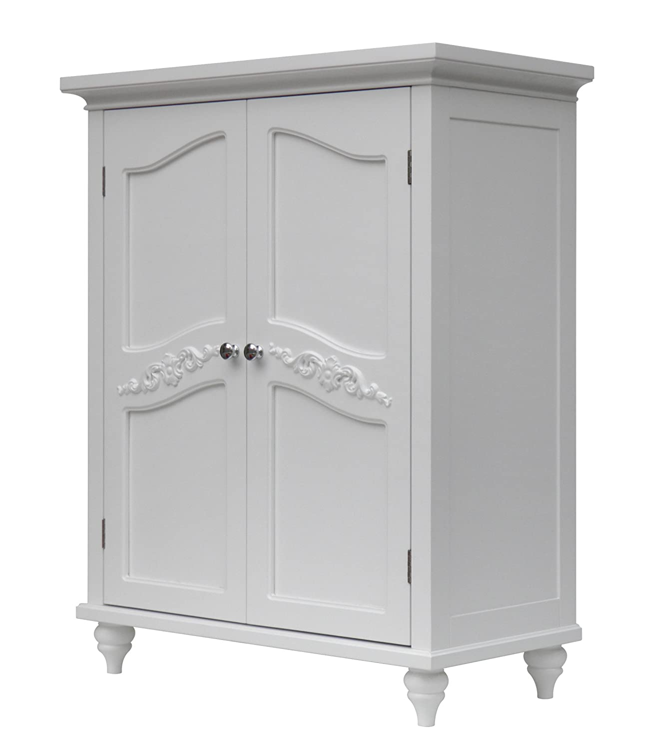 Amazon Elegant Home Fashion Vera 2 Door Floor Cabinet White