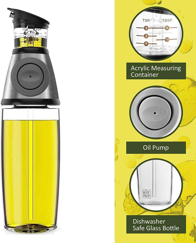 Küche Öl Ausgießer Drizzler kann Edelstahl Essig Jar Ölflasche