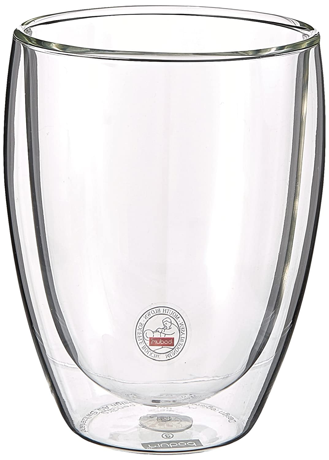 Bodum Pavina 2.5-Ounce Double Wall Glass, Extra Small, Clear-Set of 2 4557-10US4