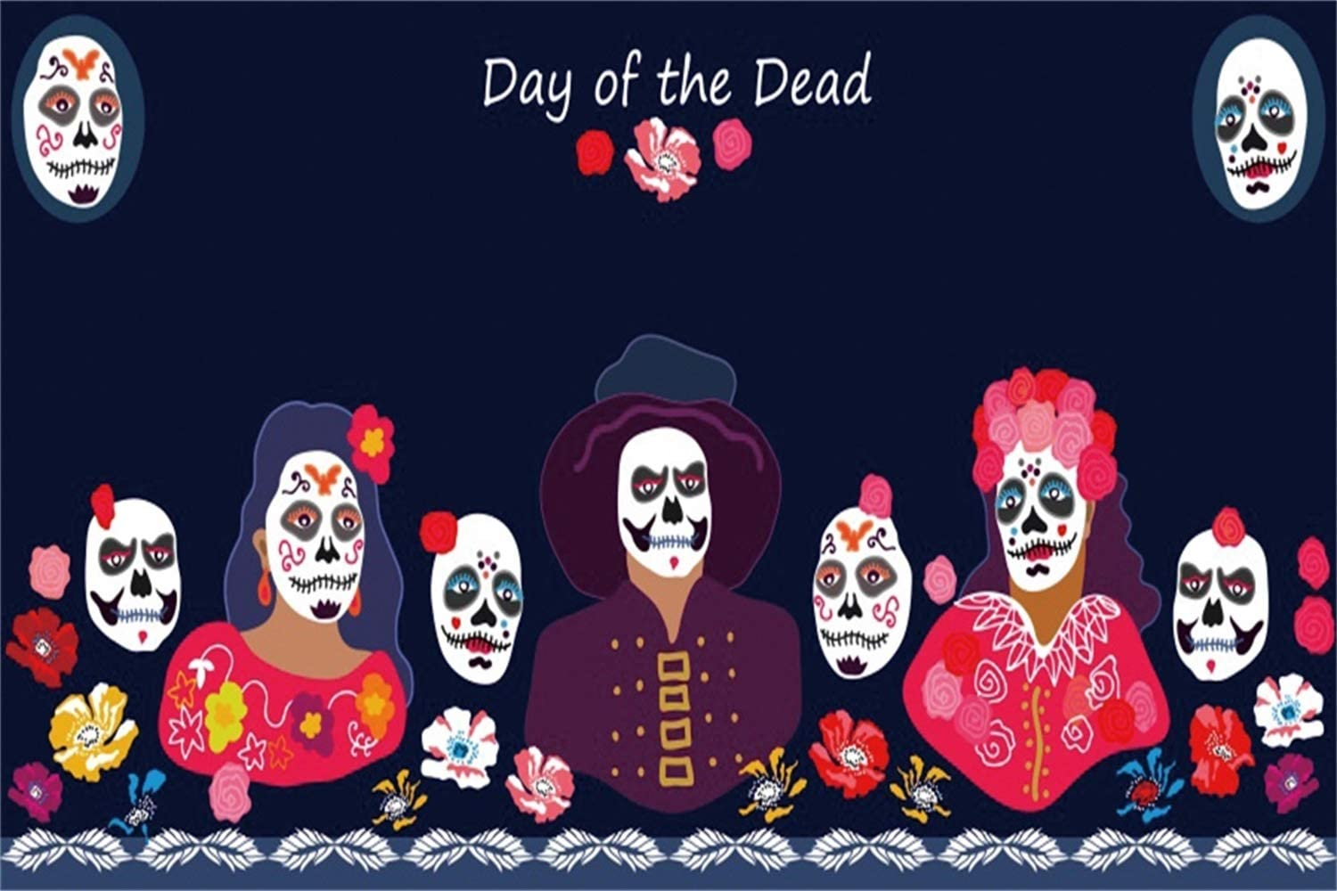 Amazon Com Leowefowa 10x6 5ft Day Of The Dead Backdrop Dia De