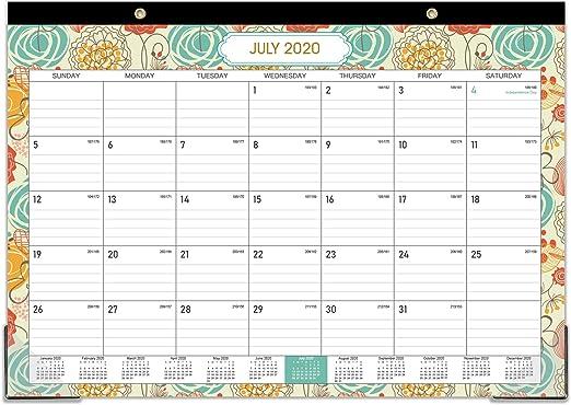 2020-2021 Desk Calendar - 18 Months Desk Wall Calendar Pad ...