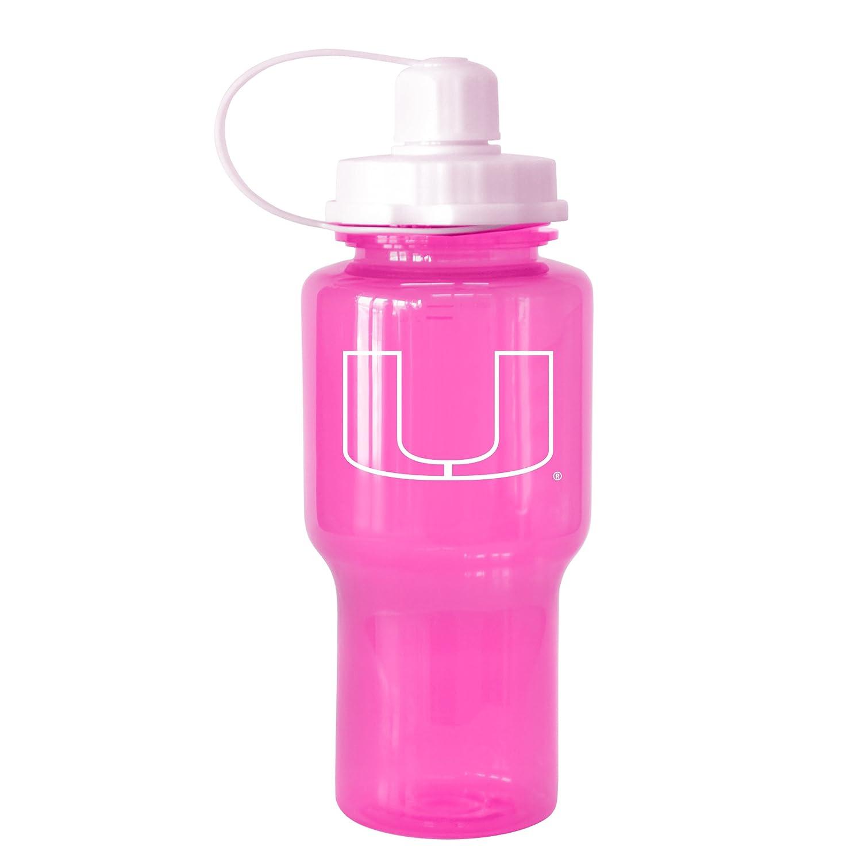 NCAA Miami Hurricanes Tritan Travel Mate Pink Water Bottle 24-Ounce Boelter Brands 282366