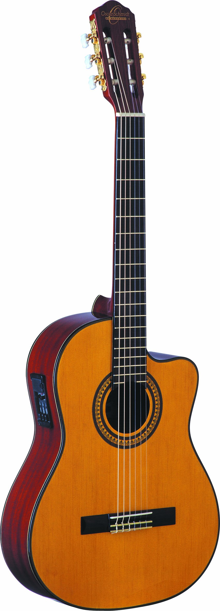 Oscar Schmidt OC11CE Classical Cutaway Acoustic-Electric Guitar - Natural