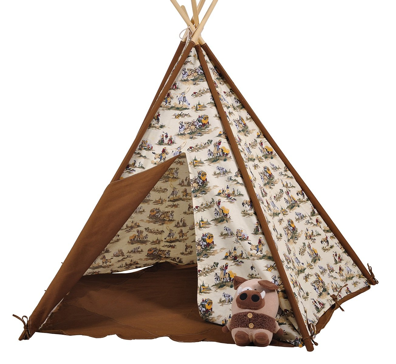 Amazon.com Dream House Indoor and Outdoor Cotton Canvas Cowboy Indian Teepee Tent for Boys Luxury Kids Playhouse Perfect Gift for Children Birthday Toys u0026 ...  sc 1 st  Amazon.com & Amazon.com: Dream House Indoor and Outdoor Cotton Canvas Cowboy ...