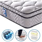 Vesgantti Box Top Series 10.3 Inch 4FT6 Double Multilayer Hybrid Mattress/Ergonomic Design with Soft Fabric and Comfort Foam Pocket Spring Orthopaedic Mattresses/Firm yet Comfortable