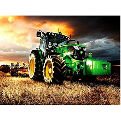YIPINQUAN Jigsaw Puzzles 1000 Pieces for Adults and Kids Cultivated Green Tractor Wooden Puzzle Educational Toys Home Decor Wall Art: Toys & Games