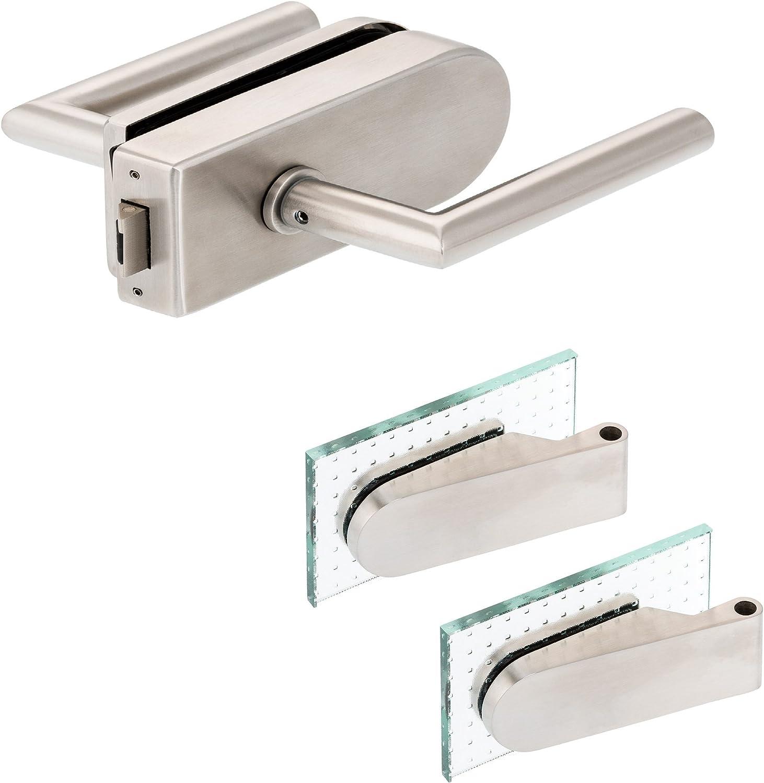 V2A Edelstahl matt inkl metallische Innenmechanik Studiob/ändern Glast/ürbeschlagD Set UV Core