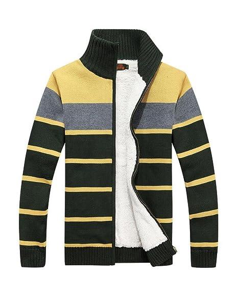 Amazon.com: batuos del Hombre de grosor con cierre chaqueta ...
