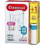 三菱ケミカル・クリンスイ クリンスイポット型浄水器 CP405 +ポット型カートリッジセット CP405W-WT