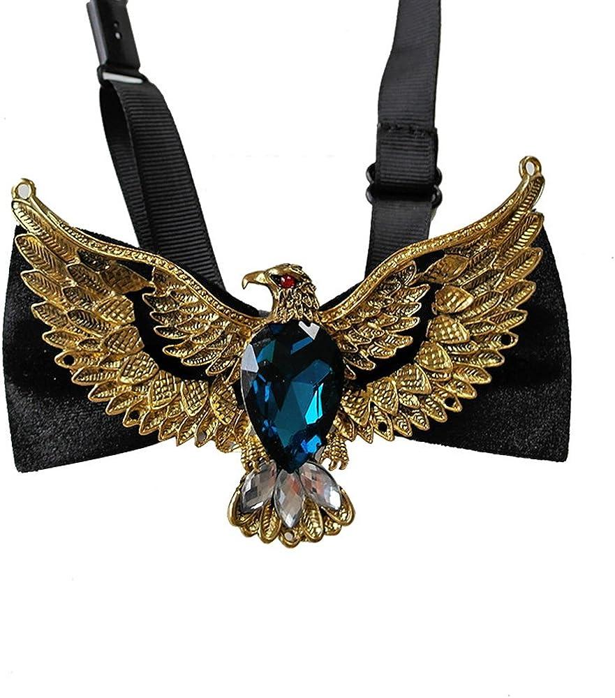 Bow Tie Suit To Get Married Men Gentleman Red Sapphire Metal Eagle Grab Gems
