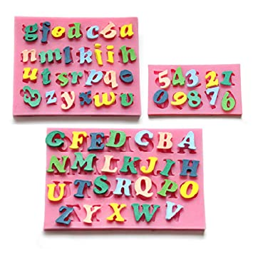 CLE DE TOUS - Molde De Silicona Forma Letras y número 0-9 para fondant