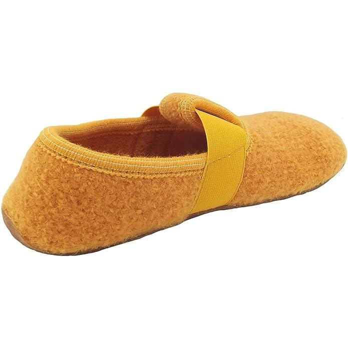 Haflinger 481015 Everest Jonas Mädchen Jungen Hausschuhe Hüttenschuhe Wolle , Größe:29;Farbe:Gelb