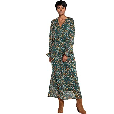 6c166fdc873c La Redoute Collections Womens Floaty Floral Print Maxi Dress Green ...