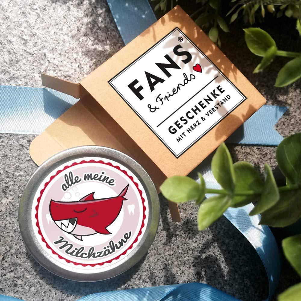 Zahnfee Dose mit Gratis e-Book FANS /& Friends Milchzahndose Jungen /& M/ädchen Hai Zahnbox f/ür Milchz/ähne Jungen Einschulung Geschenk Junge