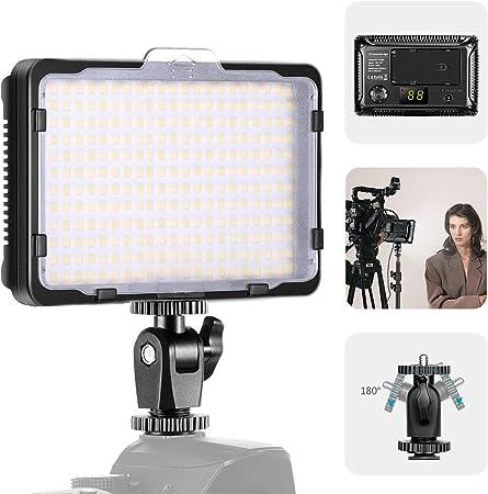 Todo para el streamer: Neewer Versión 176S Mejorada 264 Luces Video LED con Cuentas LED SMD Panel Luz LED Regulable para Videocámara con Cámara DSLR 3200K-5600K Bicolor Filtro Blanco y Pantalla LCD (Batería No Incluida)